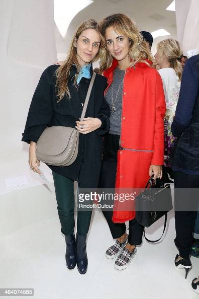 Gaia Repossi and Alexia Niedzielski attend the Christian Dior show as part of Paris Fashion Week Haute Couture Spring/Summer 2014 on January 20 2014...