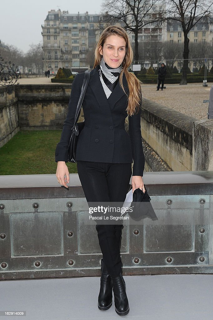 <a gi-track='captionPersonalityLinkClicked' href=/galleries/search?phrase=Gaia+Repossi&family=editorial&specificpeople=4496699 ng-click='$event.stopPropagation()'>Gaia Repossi</a> arrives to attend the Christian Dior Fall/Winter 2013 Ready-to-Wear show as part of Paris Fashion Week on March 1, 2013 in Paris, France.