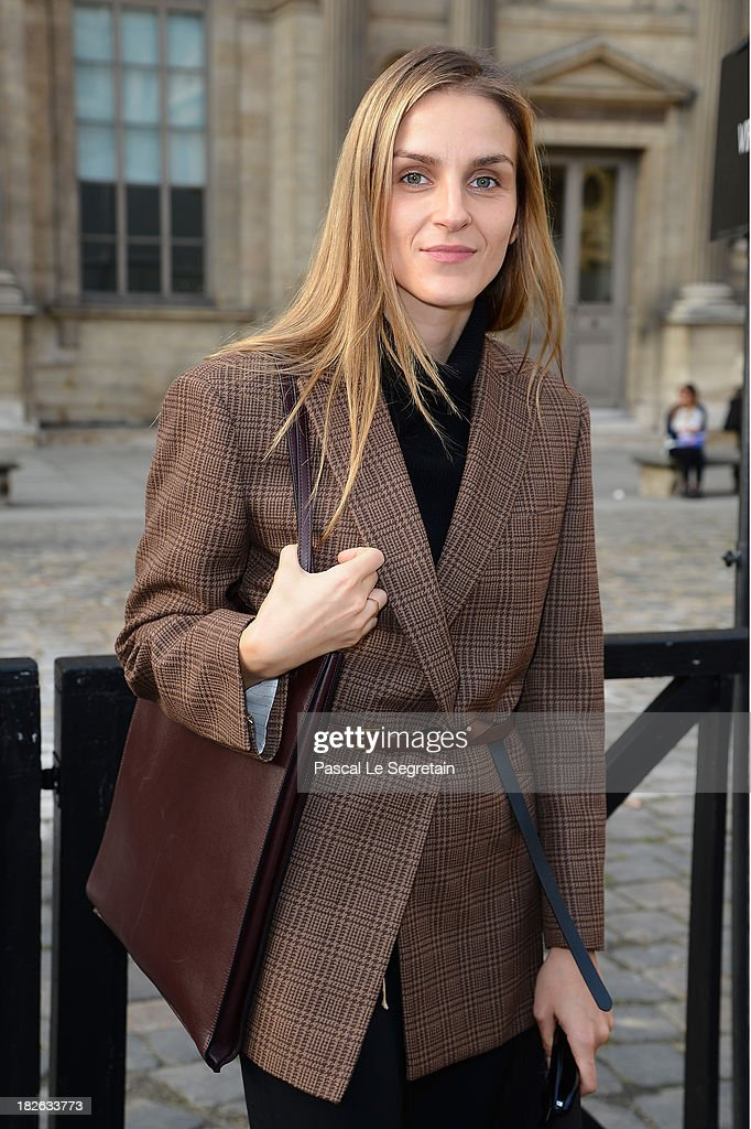 Gaia Repossi attends the Louis Vuitton show as part of the Paris Fashion Week Womenswear Spring/Summer 2014 at Le Carre du Louvre on October 2, 2013 in Paris, France.