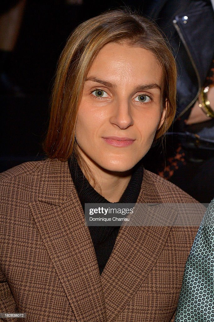 <a gi-track='captionPersonalityLinkClicked' href=/galleries/search?phrase=Gaia+Repossi&family=editorial&specificpeople=4496699 ng-click='$event.stopPropagation()'>Gaia Repossi</a> attends the Louis Vuitton show as part of the Paris Fashion Week Womenswear Spring/Summer 2014 on October 2, 2013 in Paris, France.