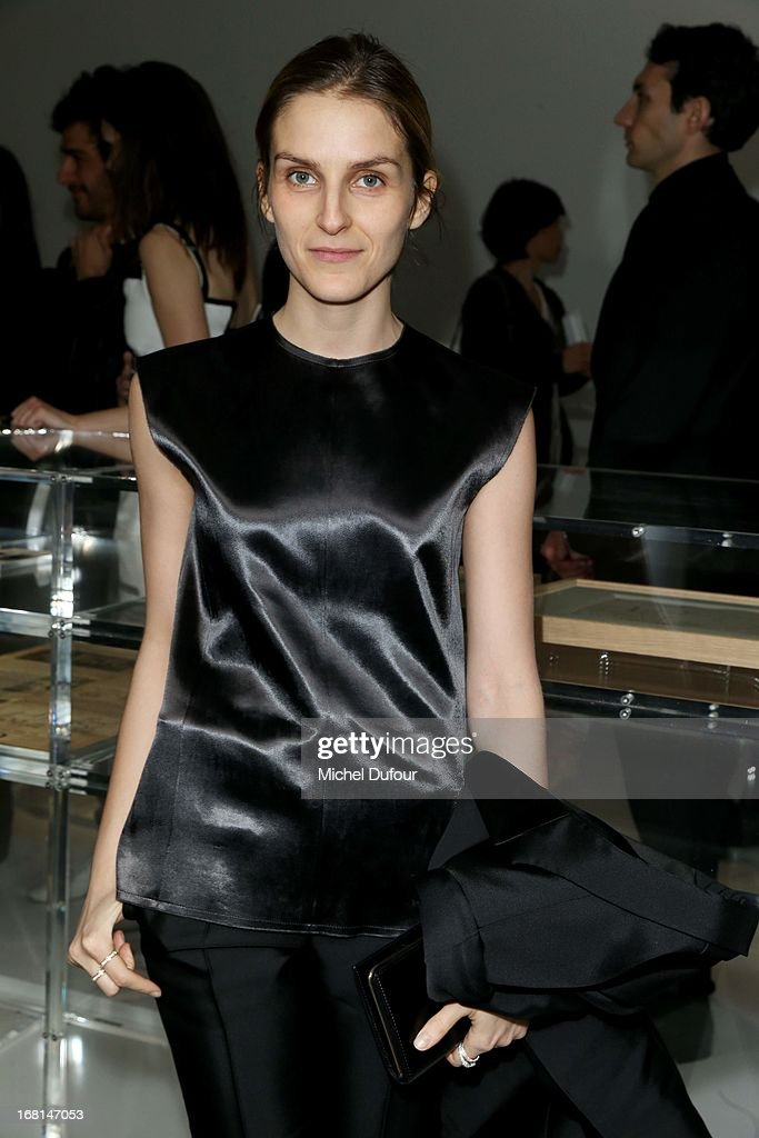 <a gi-track='captionPersonalityLinkClicked' href=/galleries/search?phrase=Gaia+Repossi&family=editorial&specificpeople=4496699 ng-click='$event.stopPropagation()'>Gaia Repossi</a> attends the 'No5 Culture Chanel' Exhibition - Photocall at Palais De Tokyo on May 3, 2013 in Paris, France.