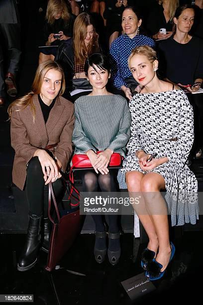 Gaia Repossi Yoko Maki and Princess Elisabeth von Thurn und Taxis attend Louis Vuitton show as part of the Paris Fashion Week Womenswear...
