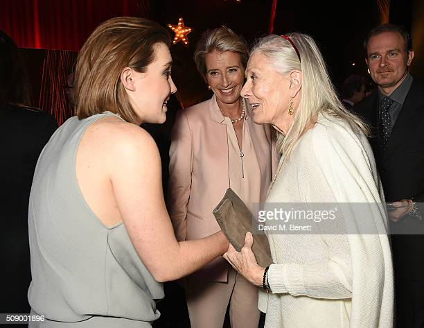 Gaia Romilly Wise Emma Thompson and Vanessa Redgrave attend a champagne reception at the London Evening Standard British Film Awards at Television...