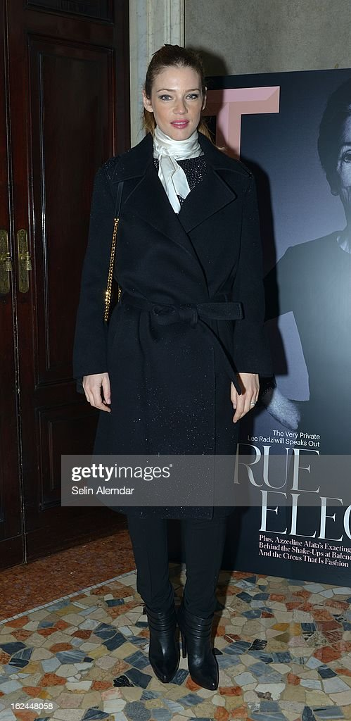 Gaia Trussardi attends Deborah Needleman's New York Times inaugural issue party during Milan Fashion Week Womenswear Fall/Winter 2013/14 on February 23, 2013 in Milan, Italy.