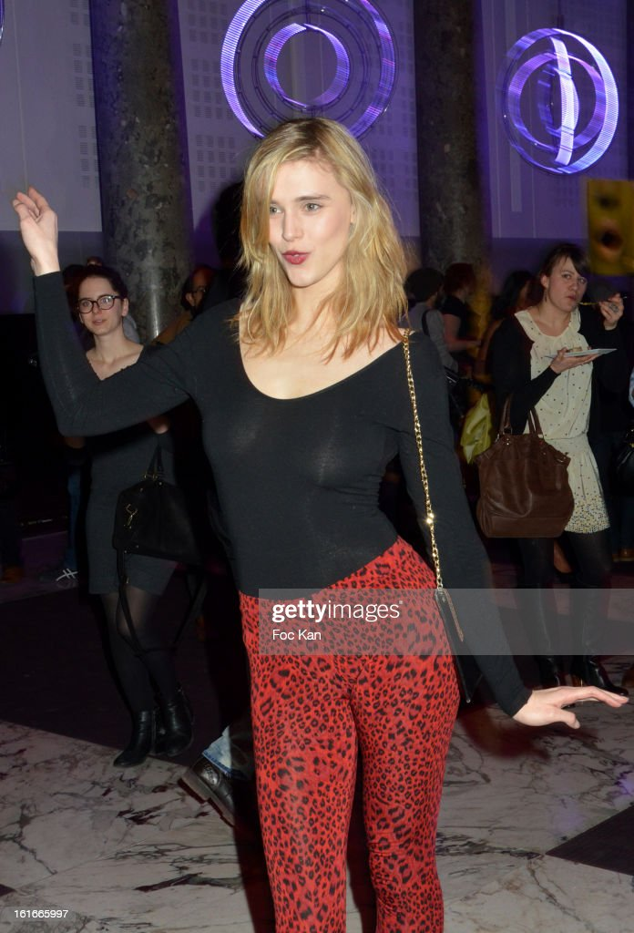 Gaia Weiss attend 'Magnum Ice Creams' Party for Valentine's day at Pavillon Cambon Capucines on February 13, 2013 in Paris, France.