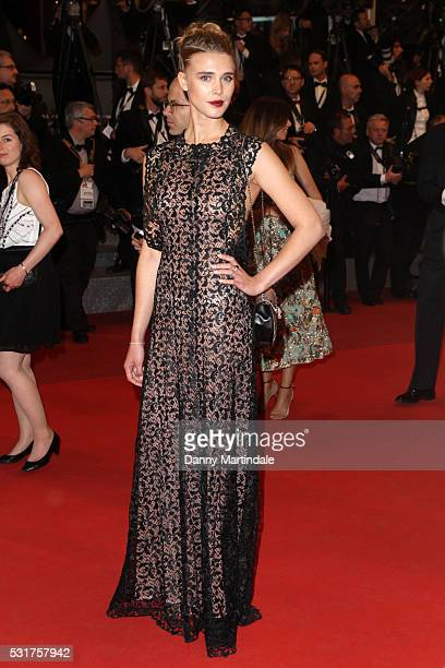 Gaia Weiss attends a screening of 'Hands Of Stone' at the annual 69th Cannes Film Festival at Palais des Festivals on May 16 2016 in Cannes France