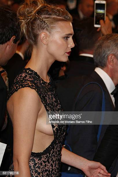 Gaia Weiss attends 'Hands Of Stone' premier during The 69th Annual Cannes Film Festival on May 16 2016 in Cannes