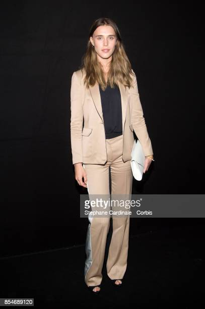 Gaia Weiss attends the Lanvin show as part of the Paris Fashion Week Womenswear Spring/Summer 2018 at on September 27 2017 in Paris France