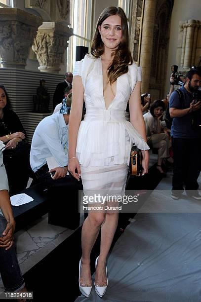 Gaia Weiss attends the Stephane Rolland Haute Couture Fall/Winter 2011/2012 show as part of Paris Fashion Week at Cite de l'Architecture et du...