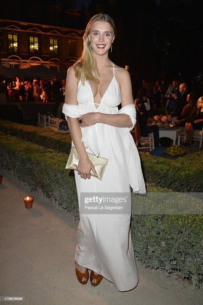Gaia Weiss attends Tory Burch Paris Flagship Opening after party at on July 7, 2015 in Paris, France.