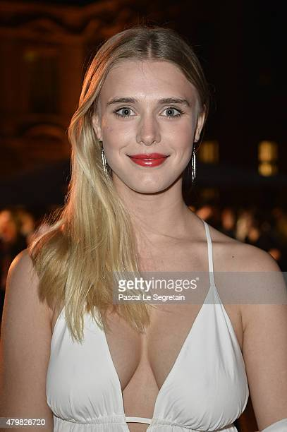 Gaia Weiss attends Tory Burch Paris Flagship Opening after party at on July 7 2015 in Paris France
