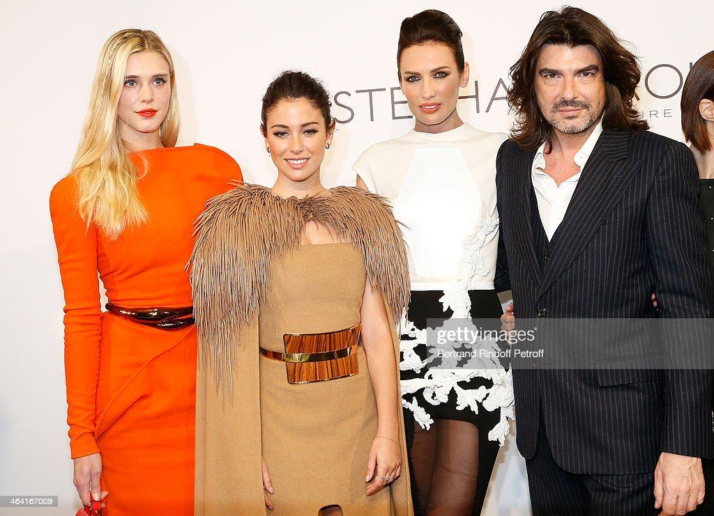 Gaia Weiss Bianca Suarez Nieves Alvarez and Stephane Rolland attend the Stephane Rolland show as part of Paris Fashion Week Haute Couture...