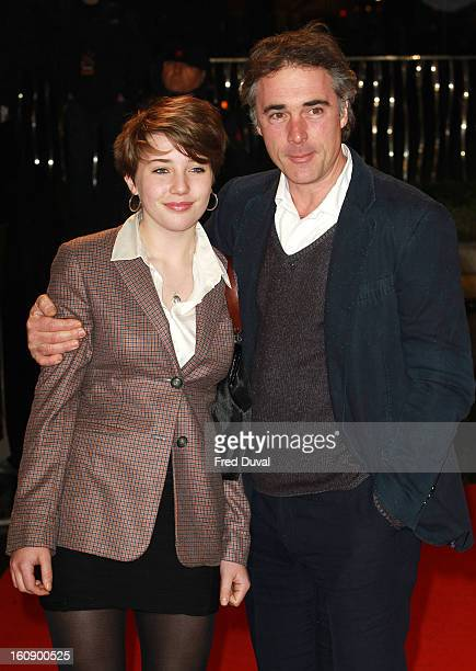 Gaia Wise and Greg Wise attend the UK Film premiere for 'A Good Day To Die Hard' at The Empire Cinema on February 7 2013 in London England