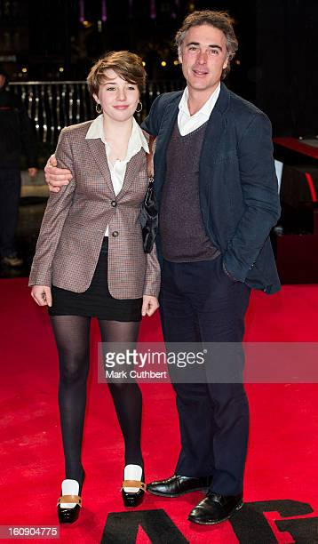 Gaia Wise and Greg Wise attend the UK Premiere of 'A Good Day To Die Hard' at Empire Leicester Square on February 7 2013 in London England
