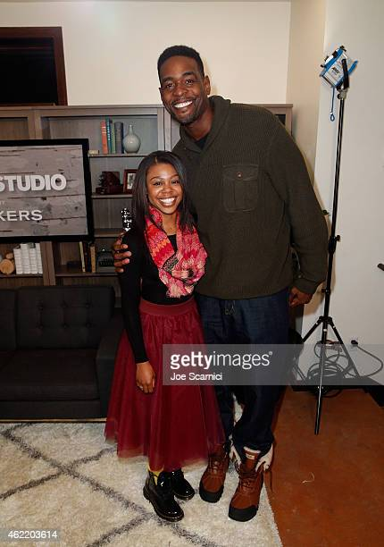 Gail Bean and Chris Webber attend The Variety Studio At Sundance Presented By Dockers on January 25 2015 in Park City Utah