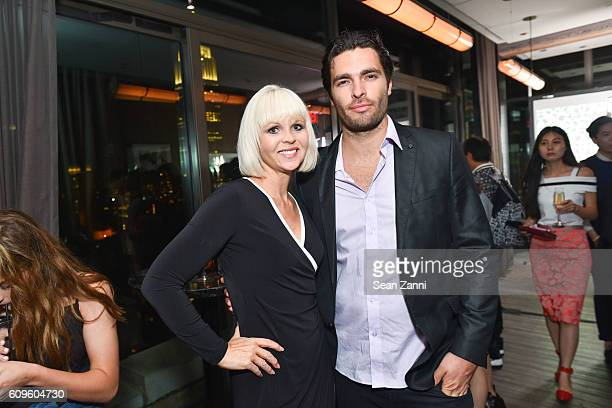 Gail Garrison and Ben Morris attend Official Vivienne Tam SS 2017 After Party at The Skylark on September 12 2016 in New York City