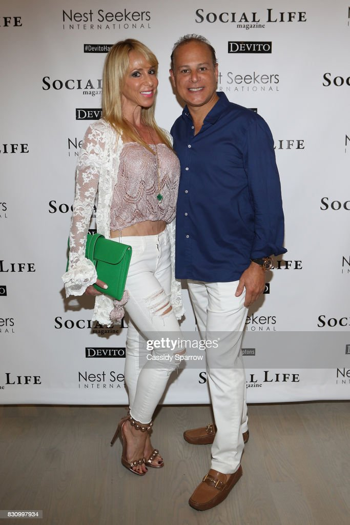 Gail Greenberg and Dr.Stephen Greenberg attend the Social Life Magazine Nest Seekers August Issue Party on August 12, 2017 in Southampton, New York.