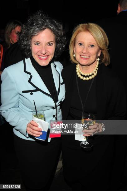 Gail Grimmett and Mary Ellis Harwood attend DELTA SKY Magazine launch party at Whiskey Park NYC on February 24 2009