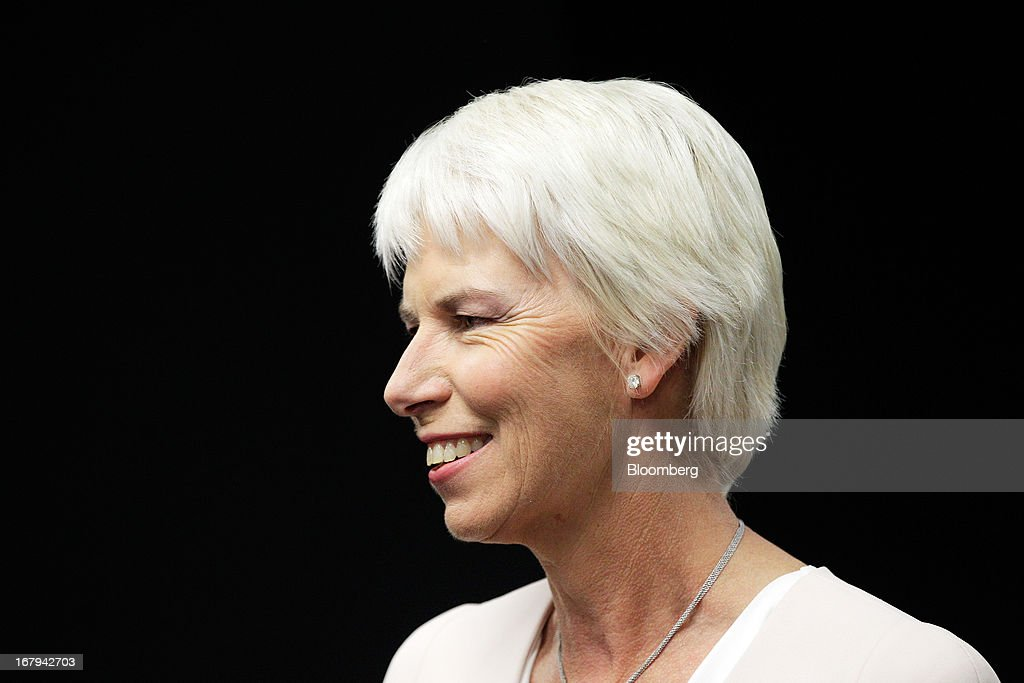 Gail Kelly, chief executive officer of Westpac Banking Corp., attends a news conference in Sydney, Australia, on Friday, May 3, 2013. Westpac, Australia's second-biggest lender by market value, will pay a special dividend for the first time since 1988 after first-half cash earnings rose 10 percent on tighter cost controls. Photographer: Brendon Thorne/Bloomberg via Getty Images