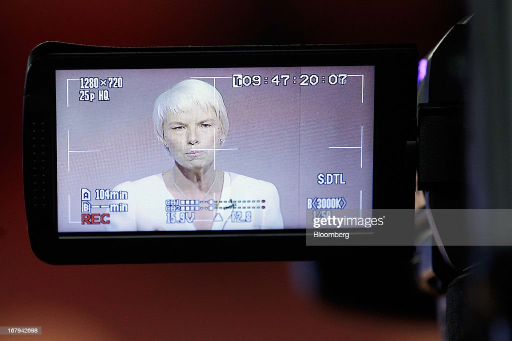 Gail Kelly, chief executive officer of Westpac Banking Corp., is viewed through a camera viewfinder as she speaks during a news conference in Sydney, Australia, on Friday, May 3, 2013. Westpac, Australia's second-biggest lender by market value, will pay a special dividend for the first time since 1988 after first-half cash earnings rose 10 percent on tighter cost controls. Photographer: Brendon Thorne/Bloomberg via Getty Images