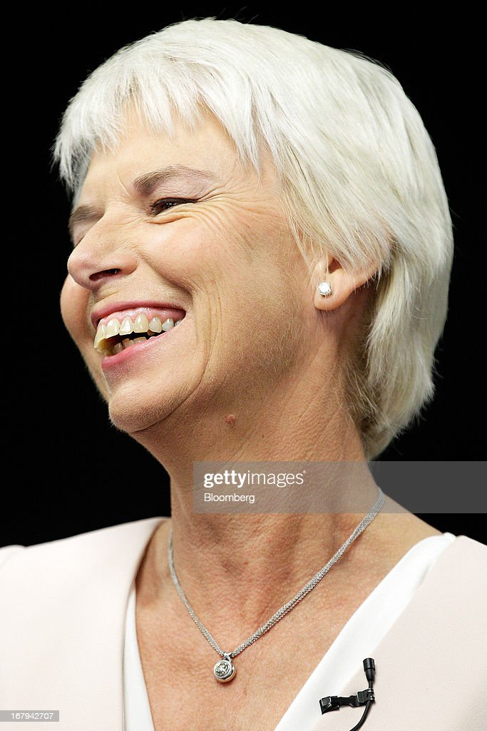 Gail Kelly, chief executive officer of Westpac Banking Corp., reacts during a news conference in Sydney, Australia, on Friday, May 3, 2013. Westpac, Australia's second-biggest lender by market value, will pay a special dividend for the first time since 1988 after first-half cash earnings rose 10 percent on tighter cost controls. Photographer: Brendon Thorne/Bloomberg via Getty Images