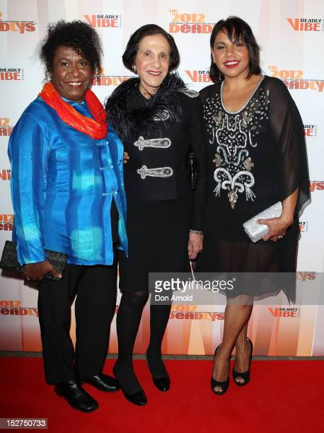 Gail Mabo Marie Bashir and Deborah Mailman pose at the 2012 Deadly Awards at the Sydney Opera House on September 25 2012 in Sydney Australia