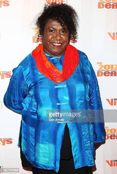 Gail Mabo poses at the 2012 Deadly Awards at the Sydney Opera House on September 25 2012 in Sydney Australia