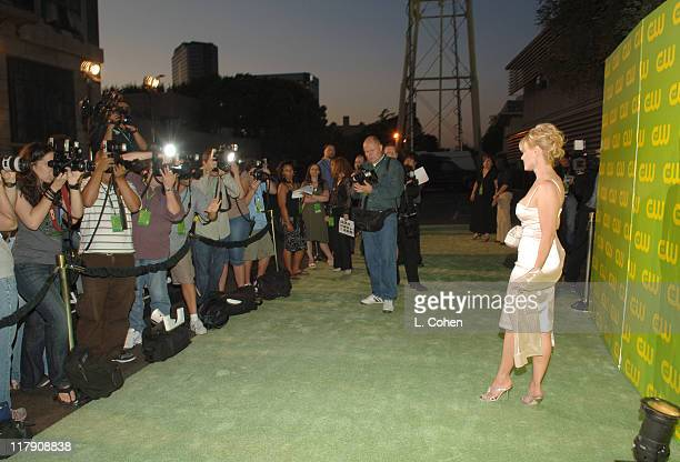 Gail O'Grady during The CW Launch Party Green Carpet at WB Main Lot in Burbank California United States
