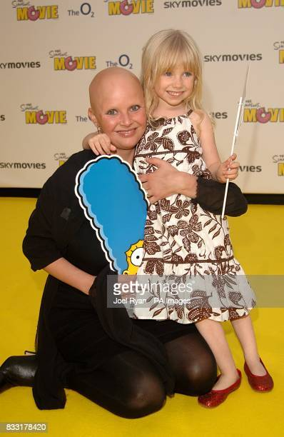Gail Porter arrives for the UK Premiere of The Simpsons Movie at the Vue Cinema The O2 Peninsula Square London