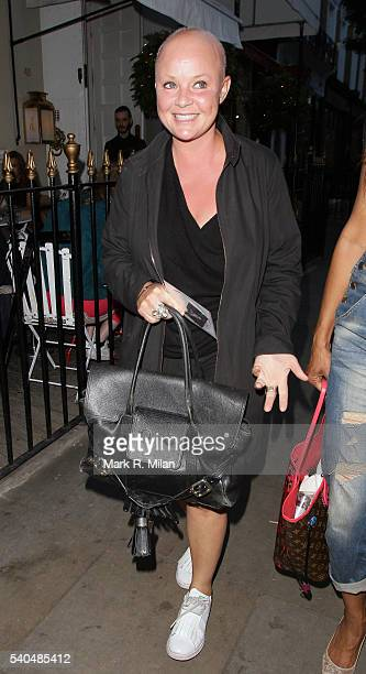 Gail Porter at Beach Blanket Babylon on June 15 2016 in London England