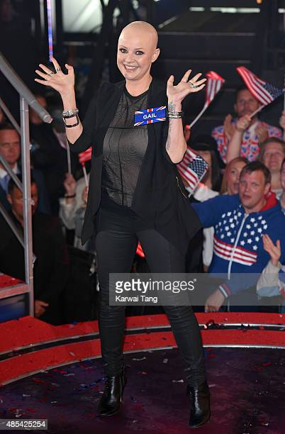 Gail Porter enters the Celebrity Big Brother house at Elstree Studios on August 27 2015 in Borehamwood England