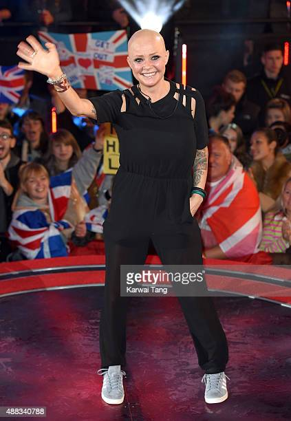 Gail Porter is evicted from the Big Brother House at Elstree Studios on September 15 2015 in Borehamwood England