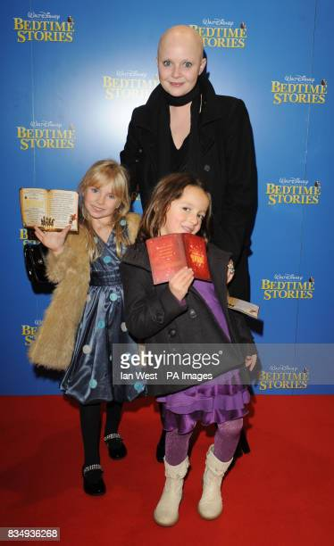 Gail Porter with daughter Honey and friend arrive at the premiere of Bedtime Stories at the Odeon cinema in Kensington central London
