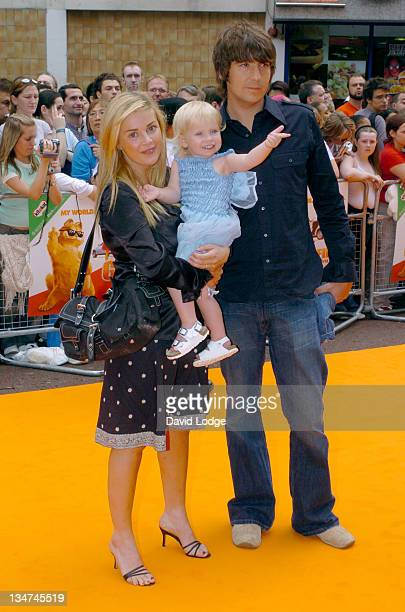 Gail Porter with husband Dan Hipgrave and daughter Honey