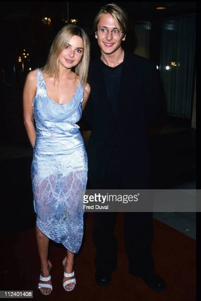 Gail Porter with singer from the boyband Five during The 1999 Restaurant Awards at Carlton Hotel in London Great Britain