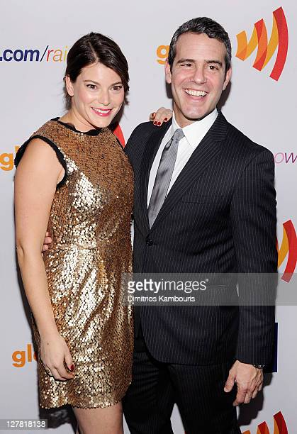 Gail Simmons and Bravo's Senior Vice President of Original Programming and Development Andy Cohen attend the 22nd Annual GLAAD Media Awards presented...