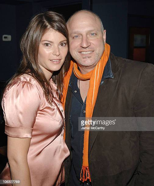 Gail Simmons and Tom Colicchio during Food and Wine Magazine Celebrates the Premiere of Bravo's 'Top Chef' at Craft Bar in New York City New York...