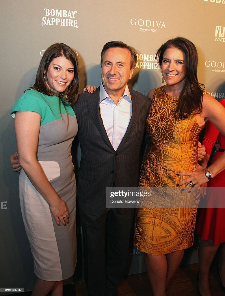 Gail Simmons, Daniel Boulud and Christina Grdovic attend The FOOD & WINE 2013 Best New Chefs Party at Pranna Restaurant on April 5, 2013 in New York City.