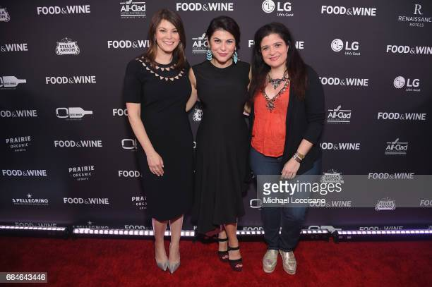 Gail Simmons of Top Chef Nilou Motamed Editor of Time Inc's Food Wine and Alex Guarnaschelli attend the Food Wine Celebration of the 2017 Best New...