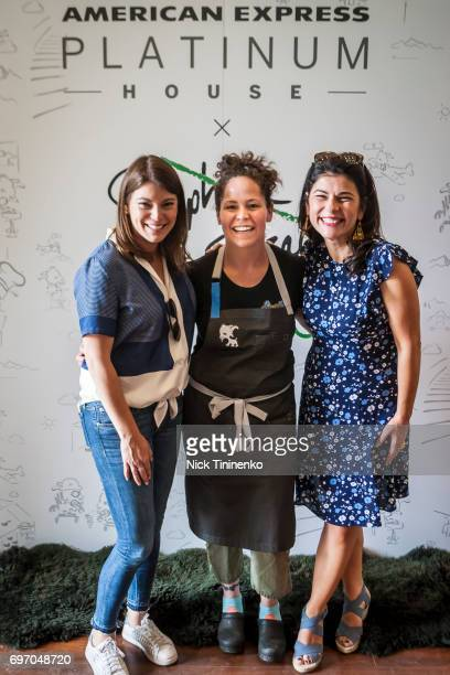 Gail Simmons Stephanie Izard and Nilou Motamed attend the American Express Platinum House x Stephanie Izard at the FOOD WINE Classic on June 17 2017...