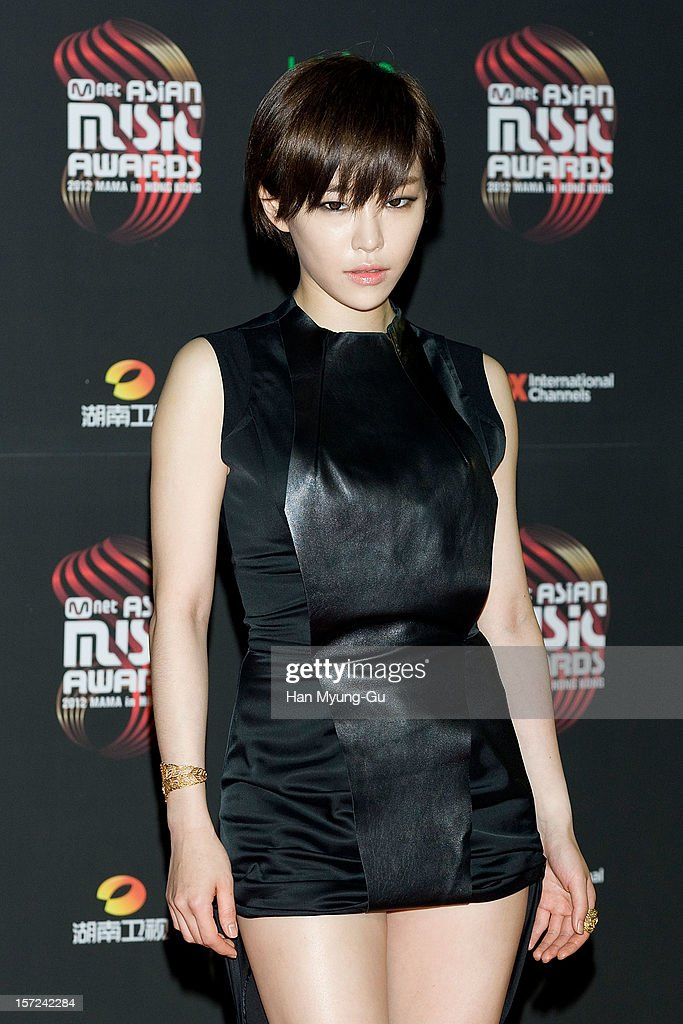 Gain of Brown Eyed Girls attends the 2012 Mnet Asian Music Awards Red Carpet on November 30, 2012 in Hong Kong, Hong Kong.