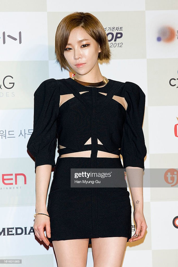 Gain of South Korean girl group Brown Eyed Girls attends during the 2nd Gaon Chart K-POP Awards at Olympic Hall on February 13, 2013 in Seoul, South Korea.