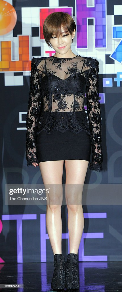 Gain poses for photographs during the 2012 SBS The Color Of K-pop at Korea University's Hwa Jung gymnasium on December 29, 2012 in Seoul, South Korea.