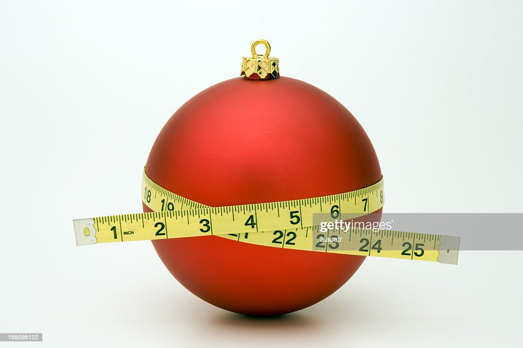 Gaining Weight at Christmas : Stock Photo