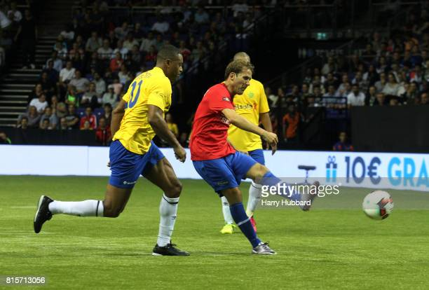 Gaizka Mendieta of Spain in action during the 3rd Place Play off Star Sixes match between Spain and Brazil at The O2 Arena on July 16 2017 in London...