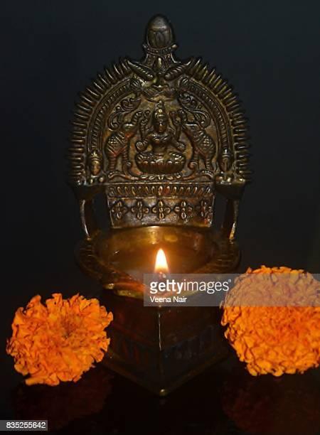 Gajalakshmi Vilakku/Traditional oil lamp/Kerala