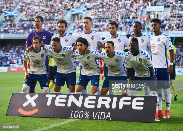 Gaku Shibasaki of CD Tenerife looks on during La Liga 2 play off round between CD Tenerife and Getafe CF at Heliodoro Rodriguez Lopez Stadium on June...