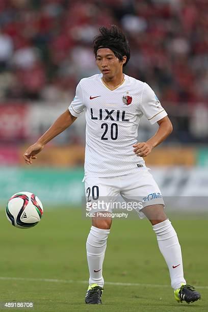 Gaku Shibasaki of Kashima Antlers in action during the JLeague match between Ventforet Kofu and Kashima Antlers at Yamanashi Chuo Bank Stadium on...