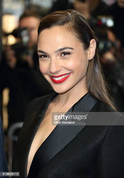 Gal Gadot arrives for the UK premiere of 'Criminal' at The Curzon Mayfair on April 7 2016 in London England