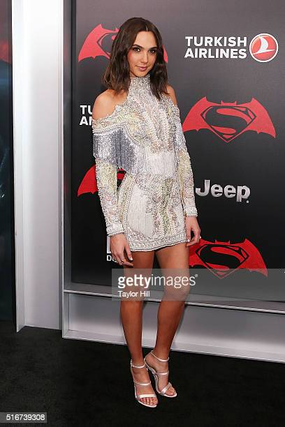 Gal Gadot attends the 'Batman v Superman Dawn of Justice' premiere at Radio City Music Hall on March 20 2016 in New York City
